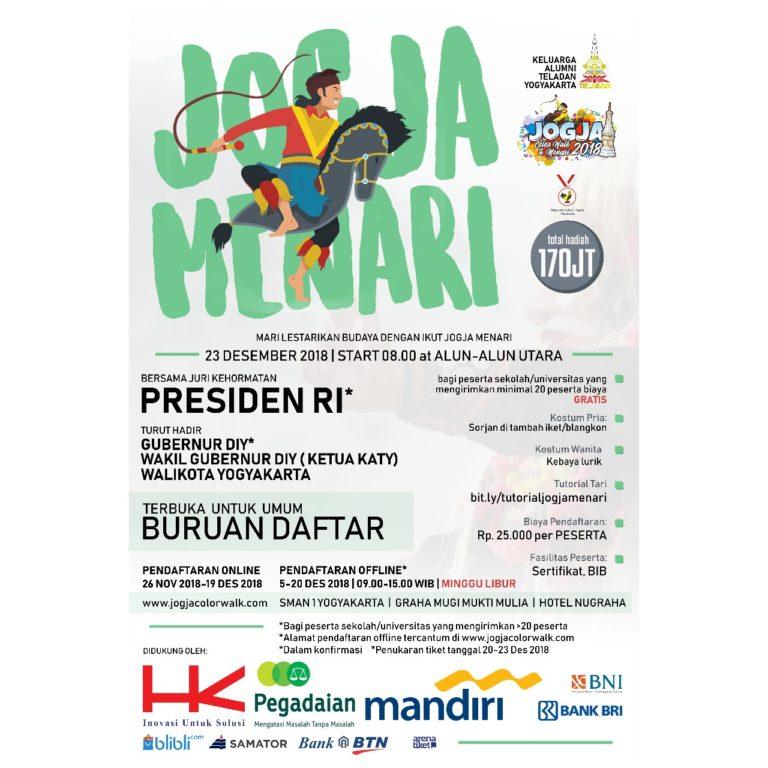 """Gebyar event persembahan dari Keluarga Alumni Teladan Yogyakarta """"Jogja Menari"""""""