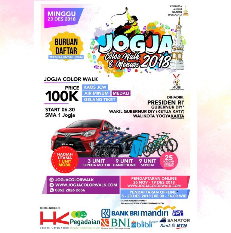 """Gebyar event persembahan dari Keluarga Alumni Teladan Yogyakarta """"Jogja Color Walk"""""""